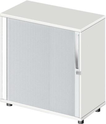 LOGIN roldeurkast, 2 OH, b 800 x d 420 x h 744 mm, wit/wit