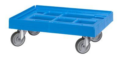 Logistik-Roller  610 x 410 mm, blau RAL 5012