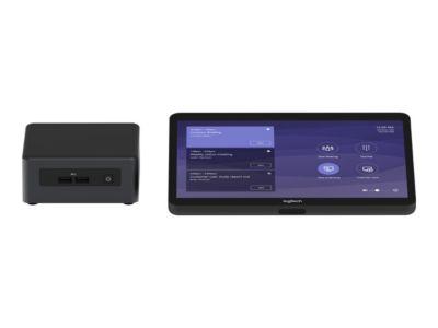 Logitech Tap for Microsoft Teams Base Model - Kit für Videokonferenzen - mit Intel NUC (i5-8259U, 8 GB RAM, 240 GB SSD), Logitech JumpStart (90 Tage)