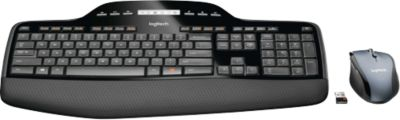 Logitech Wireless Desktop MK710, ergonomisch, Set aus Tastatur und Maus