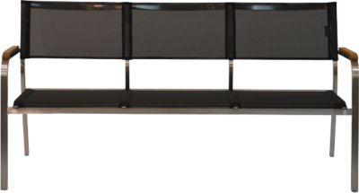 Lounge-Bank Lux, 3-Sitzer, schwarz