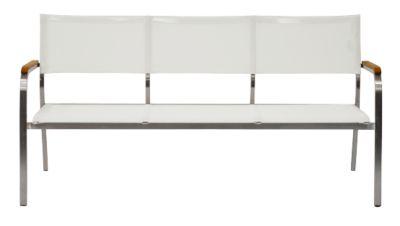 Lounge-Bank Lux, 3-Sitzer, weiß