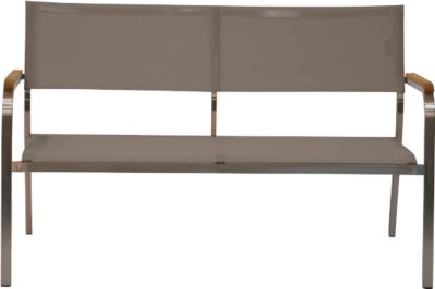 Loungebank Lux, 2-zits, taupe, taupe