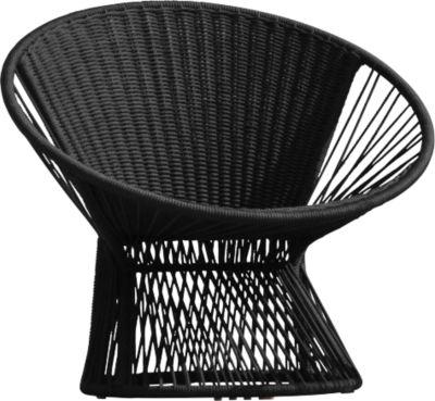 Loungestoel Ray, zwart