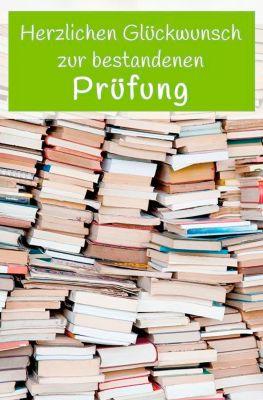 LUMA Doppelkarte Prüfung, Motiv Bücher, Innenseite geraut, mit Umschlag
