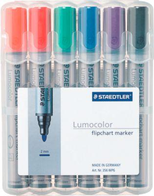 Lumocolor flipchart marker 356, 6-dlg. set