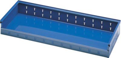 Magazijnbak, d 385 x h 120 mm, blauw