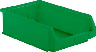 Magazijnbakken LF 531, kunststof, 16,5 liter, groen