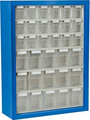 Magazijnwandkast, gentiaanblauw, 33 bakken