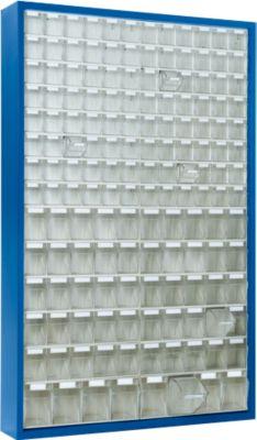 Magazinschrank mit 154 Behältern, enzianblau