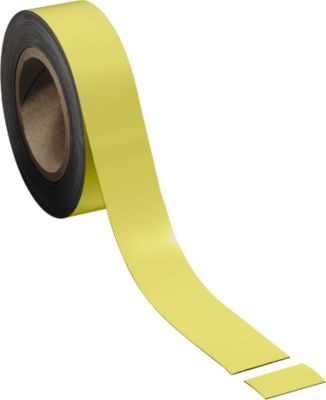Magneetbanden, geel, 40 mm x 10 m