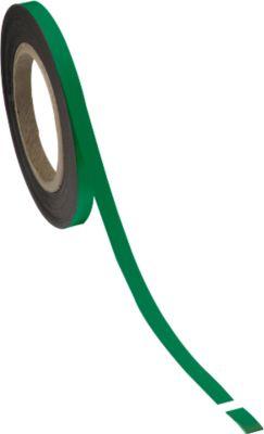 Magneetbanden groen, 10 mm  x 10 m