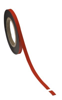 Magneetbanden, rood, 10 mm  x 10 m