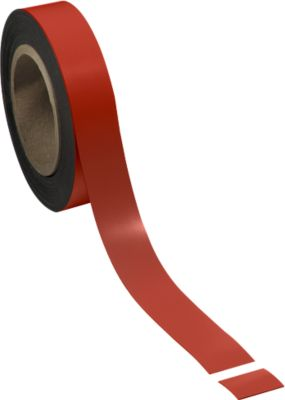 Magneetbanden rood, 30 mm x 10 m