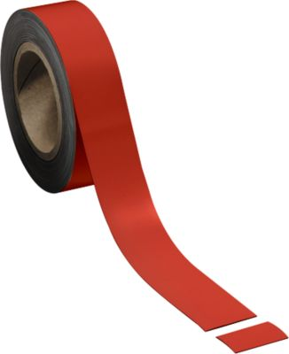 Magneetbanden, rood, 40 mm x 10 m