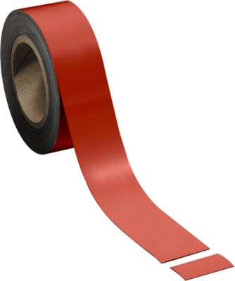 Magneetbanden, rood, 50 mm x 10 m
