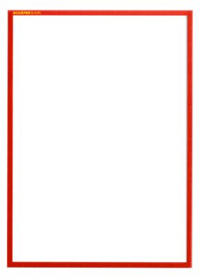Magneetframe SSI Standard, DIN A3 staand, rood, 5 st
