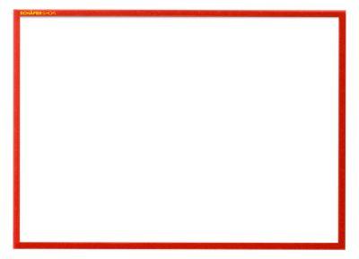 Magneetframe SSI Standard,DIN A4 liggend, rood, 5 st