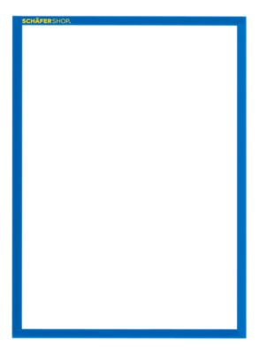 Magneetframe SSI Standard, DIN A4 staand, blauw, 5 st