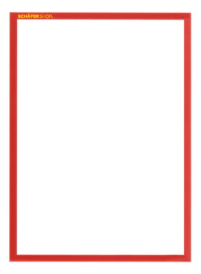 Magneetframe SSI Standard, DIN A4 staand, rood, 5 st