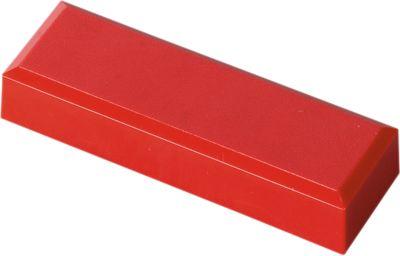 Magneten, 53 x 18 x 10 mm, rood, 20 stuks