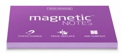 Magnetic Notes M 100x70mm violet 100 Bl