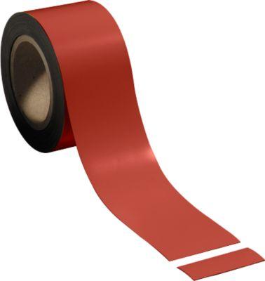 Magnetische folie, 70 mm x 10 m, rood