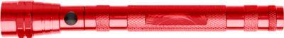 Magnetische Teleskop-LED-Lampe Maxi, inkl. einfarbigem Werbedruck und allen Grundkosten, rot