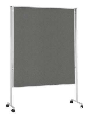 magnetoplan® Stellwand, mobil, doppelseitig, B 1500 x T 1200 mm, grau, Filz