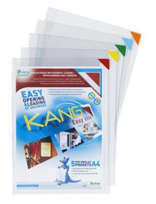 Magnetsichttafel Sichtmappe Tarifold Kang, DIN A4, 5 Stck.