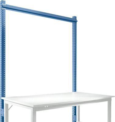 Manuflex Aufbauportal, für Grundtische Universal/Profi Standard, für Tischbreite 1500 mm, brillantblau