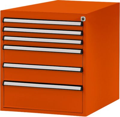 Manuflex ladeonderstel, voor werkbank Profi diepte 700 mm, oranjerood