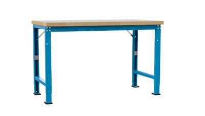 Manuflex Werkbank Profi Spezial, Tischplatte Kunststoff, 1500 x 700 mm, lichtblau