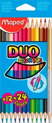 Maped® Buntstifte Color Peps Duo Maxi, 12 Stück