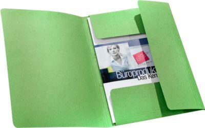 Mappen met 3 kleppen, karton, voor A4 formaat, groen, 50 stuks