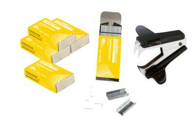 Marken-Heftklammern 24/6 + Heftklammernentferner, gratis
