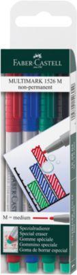 Marker Faber-Castell Multimark, 4er-Set, M, non-permanent