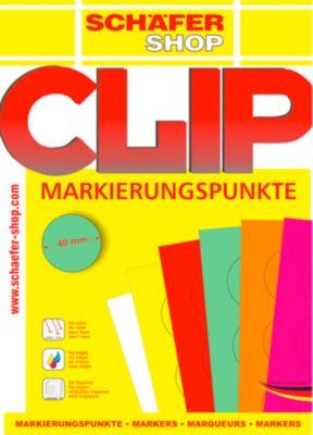 Markierungspunkte, pink, 10 Blatt à 24 Etiketten
