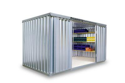 Materiaalcontainer MC 1400, gegalvaniseerd, gedemonteerd, zonder bodem, zonder bodem