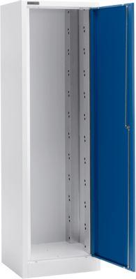 Materiaalkast MS 2506, b 600 x d 500 x h 1935 mm, leeg, aluzilver/gentiaanblauw