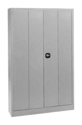 Materiaalkast MS 2512, b 1200 x d 500 x h 1935 mm, aluzilver