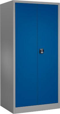 Materiaalkast MSI 2509, b 950 x d 500 x h 1935 mm, aluzilver/gentiaanblauw