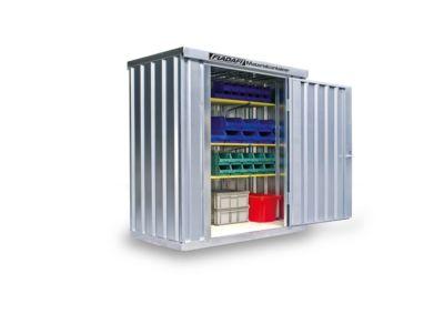 Materialcontainer MC 1100, verzinkt, zerlegt, ohne Boden