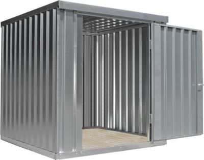 Materialcontainer MC 1200, verzinkt, zerlegt, mit Holzfußboden