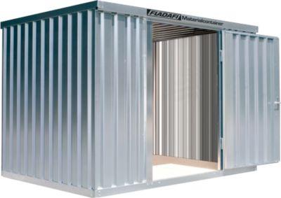 Materialcontainer MC 1300, verzinkt, zerlegt, ohne Boden