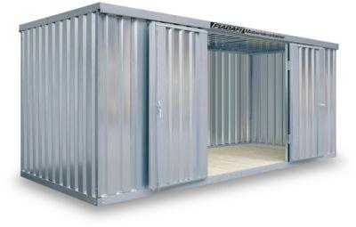 Materialcontainer MC 1500, verzinkt, zerlegt, ohne Boden