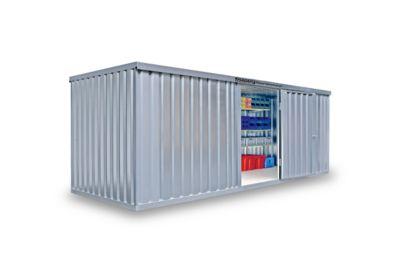 Materialcontainer MC 1600, verzinkt, montiert, mit Holzfußboden