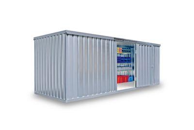Materialcontainer MC 1600, verzinkt, zerlegt, ohne Boden
