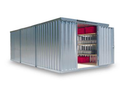 Materialcontainer Mod. 1360, verzinkt, vormontiert, mit Holzfußboden