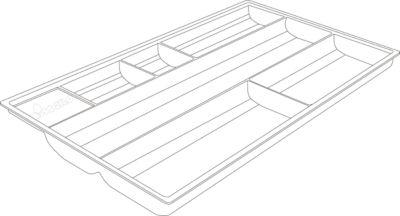 Materialschale, für Sideboard mit Schublade, 335 x 196 mm
